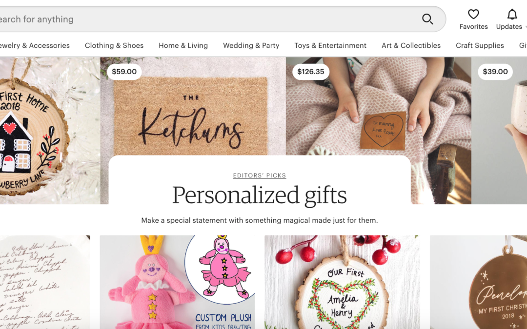 Etsy bets on personalized gifts to keep hold of new customers