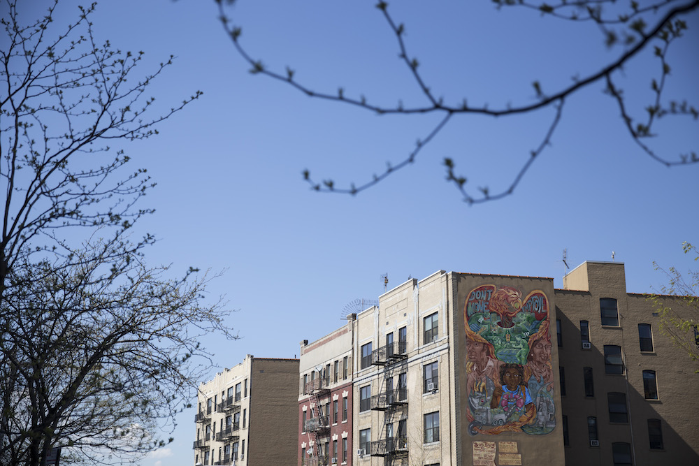 Murals decorate the buildings along Hunts Point Avenue, the main street in Hunts Point, Bronx (photo by Jessica Bal).